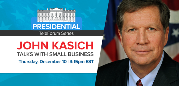 Gov. Kasich to Speak to NFIB Members December 10